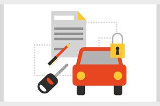 registreringsbevis i bilen